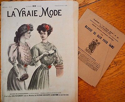 La Vraie Mode Pattern N°28 of 1907 French Fashion Magazine