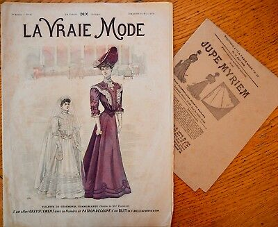 La Vraie Mode Pattern N°10 of 1906 French Fashion Magazine