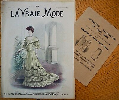La Vraie Mode Pattern N°6 of 1905 French Fashion Magazine