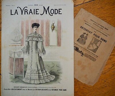 La Vraie Mode Pattern N°42 of 1905 French Fashion Magazine