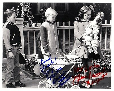 DENNIS THE MENACE. Photograph from an episode signed by Dennis and Margaret