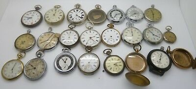 Vintage / Antique Pocket Watch Lot For Parts Or Spares And Repairs