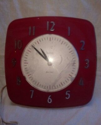 vintage smiths sectric dubarry wall clock with box for spares or repairs
