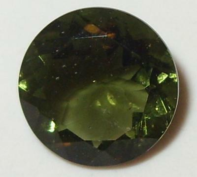 2.77ct Faceted TOP QUALITY Natural Czechoslovakia Moldavite Round Cut 10mm