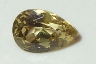 .91ct Valuable Natural Tanzania Gold To Greenish Gold C/S Chrysoberyl Pear 7x5mm