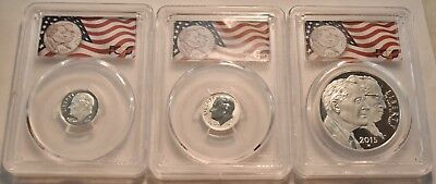 2015 W P $1 10C March of Dimes Set PCGS PR 70 First Strike Silver Roosevelt Dime