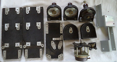Assorted Machined Mounting Plate, Mounted Geared Rotary Shaft, & Mounting Brkts