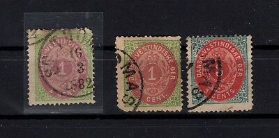 BP55884 / DANISH WEST INDIES / MI # 5 I a / b – 6 I b OBL / USED 205 €
