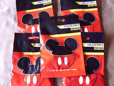 Disney * MICKEY EARS ICONS * 5 PACKS * NEW 5-pin Collectible Mystery Pack Pins