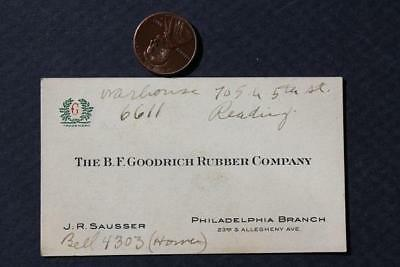 1930-40s Philadelphia,Pennsylvania B.F.Goodrich Tires business card-VINTAGE COOL