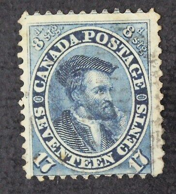 CKStamps: Canada Stamps Collection Scott#19 Cartier Used CV$170