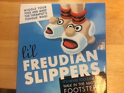 funny baby shower gift, 6-12 months,Freudian Slippers!