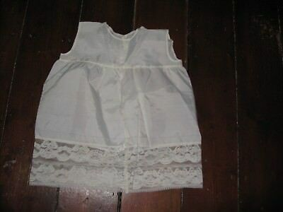 Vintage Baby Under Petticoat/slip Cream Lacy Edging Size One Year 1950's