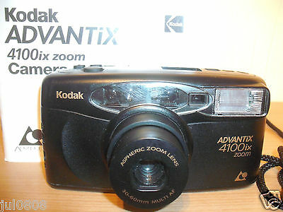 Kodak Advantix 4100Ix Quartz Date Aps Film Camera~30-60Mm Aspheric Lens (27M12)