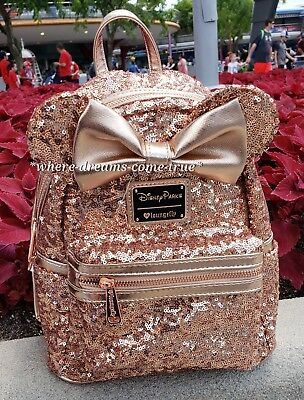 Disney Parks Minnie Mouse Sequined Mini Backpack by Loungefly NEW W/ TAGS!!!