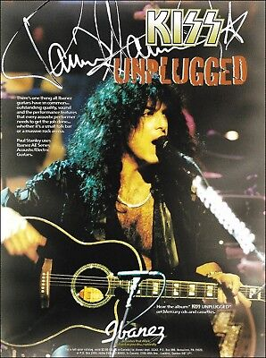 Kiss Unplugged Paul Stanley Ibanez AE guitar 8 x 11 advertisement 1996 ad print
