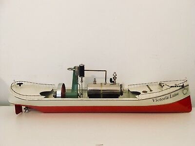 Tucher Walther Live Steam Boat Victoria Luise ~ 25+ Inch Long