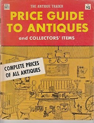 RARE Vintage August 1971 Magazine Antique Trader Price Guide to Collectors Items