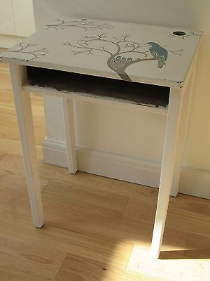 Vintage Wooden School Desk Painted with Laura Ashley + Decoupage. Shabby Chic