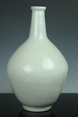Jun030 Korean Late Joseon White Porcelain Big Bottle Vase Jar Tokkuri
