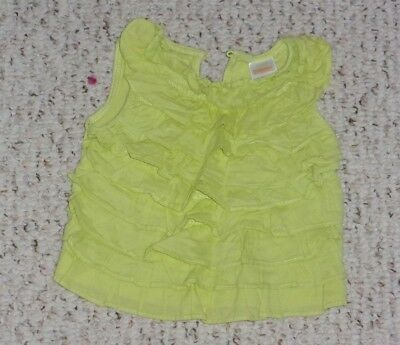 Green Grape Gymboree Sleeveless Top w/ Ruffles, Greek Isle Style, 6-12 months