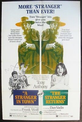 A Stranger In Town / The Stranger Returns 1969 Tony Anthony Original US Poster