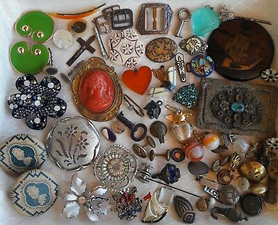 Junk Drawer Lot Vintage Pins/Buckles/Misc.
