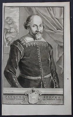 1726 Jacques Specx Korea  Dutch East Indies Portrait engraving Valentijn Japan