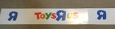 """Toys R Us  Store Display Sign / Poster 68"""" long X 10"""" Wide"""