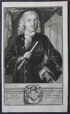 1726 Joan van Hoorn Governor East Indies Portrait engraving Valentijn Asia