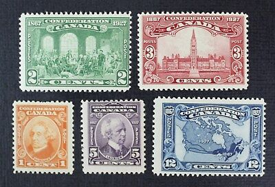 CKStamps: Canada Stamps Collection Scott#141-145 Mint H OG