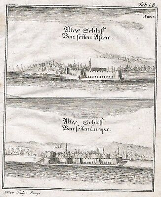 1730 Dardanellen Dardanelles Turkey Greece map Kupferstich engraving carte Karte