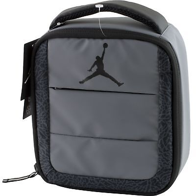 23143c40233 Nike Air Jordan Jumpman Soft School Insulated Lunch Tote Bag Box Gray Black
