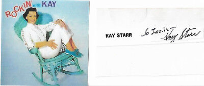 Kay Starr Genuine Hand Signed And Inscribed Autograph Clip..with Picture..