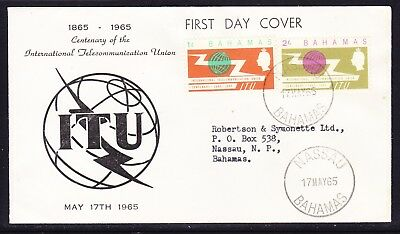 Bahamas 1965 International Telecommunication Union First Day Cover Addressed