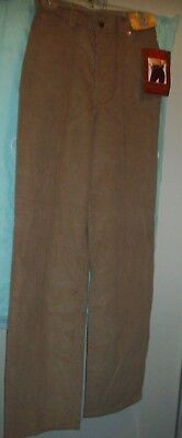 Rare 1978 Vintage High Waisted Levi's California Straights Corduroy Size 11 NOS