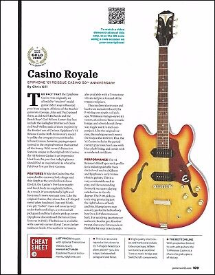 Epiphone '61 Reissue Casino 50th Anniversary Guitar 8 x 11 sound check review