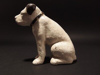 Primitive Antique Style Miniature Cast Iron Nipper Dog Coin Bank