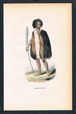 1840 - Souraki Asien Asia costumes Trachten antique print