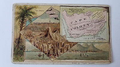 Arbuckles Coffee Card 1889 Map British Cape Colony South Africa