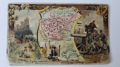 Arbuckles Coffee Card 1889 Map German Empire Germany