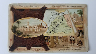 Arbuckles Coffee Card 1889 Map Morocco