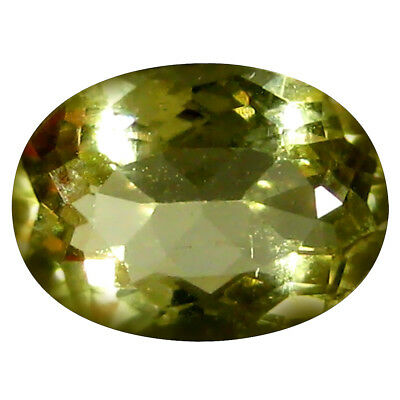 1.10 ct AAA Super-Excellent Oval Shape (8 x 6 mm) Yellow Heliodor Beryl Gemstone