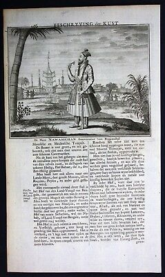 1726 - Rajmahal India governor Asia portrait costume Valentijn engraving
