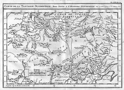 1750 - Tartary China Asia map Karte engraving Kupferstich