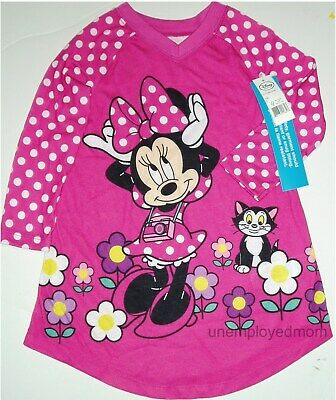 Nightgown Pajamas Girls Disney Sleepwear Childrens Night Gown Long Sleeve youth