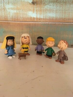 Peanuts Nativity Christmas Play Charlie Brown Replacement Figures Lot of 6