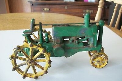 Antique Unmarked Cast Iron Toy Tractor