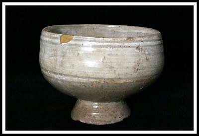 RVCP23 Korean Antique Buncheong Richou Hakeme Bowl  Joseon dynasty # stoneware