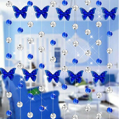 Crystal Glass Bead Curtain Fashion Living Room Bedroom Window Door Wedding Decor